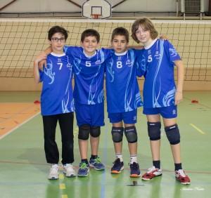 De gauche à droite : Gabriel Leydet, Kyllian Girynowicz, Stanislas Santos et Edouardo Nasuto.