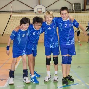 De gauche à droite : Théo Ponsada, Rodrigue Joly, Elliot Laurent et Evan Boulanger.