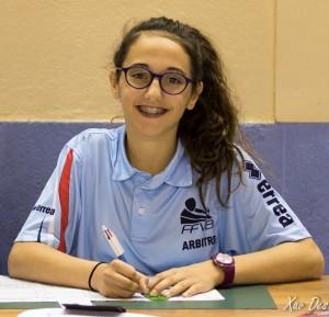 Marjane, arbitre en finale filles des mini-volleyades
